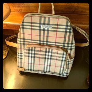 Burberry backpack handbag